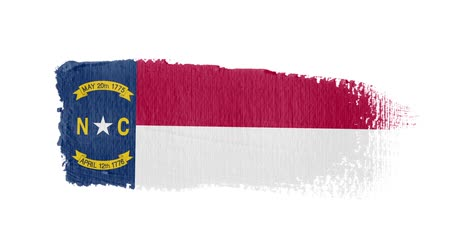 articles : North Carolina flag painted with a brush stroke