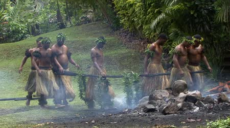 melanesia : Fire Walkers Native Tribe in Fiji