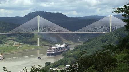 Cruise ship Panama Canal Suspension bridge