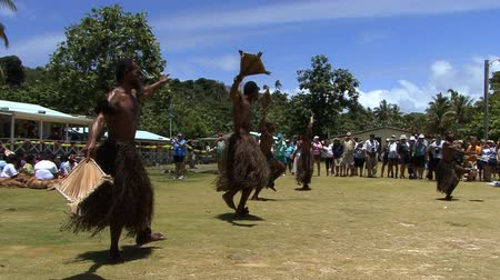 fijian : South Pacific People Dancing Stock Footage