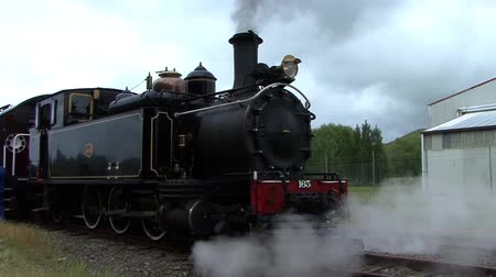 Steam train steaming