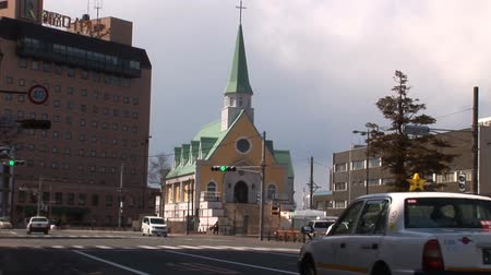 konzervace : Street with Church in Japan