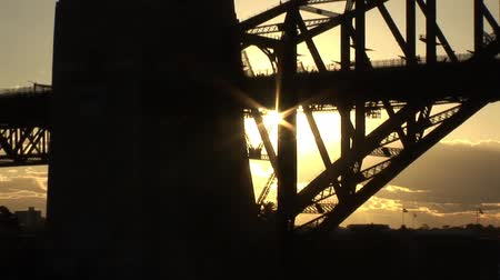 Sunset Glare Sydney Bridge