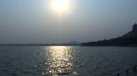background material : Sunset Summer Palace China Beijing