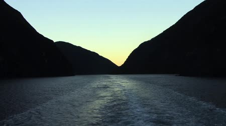 Sunset Milford Sound Stock Footage