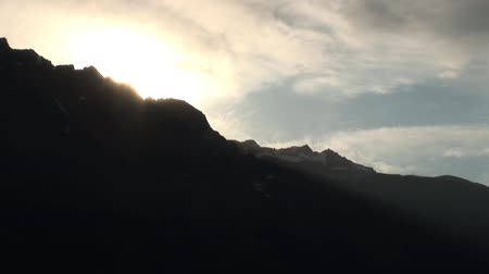 Sunshine over the mountains Stock Footage