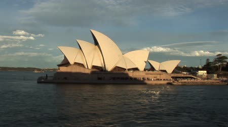 Sydney Opera House at Sunrise Stok Video
