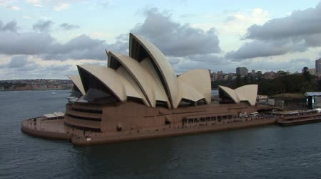 Sydney Opera House at Sunrise Stock Footage