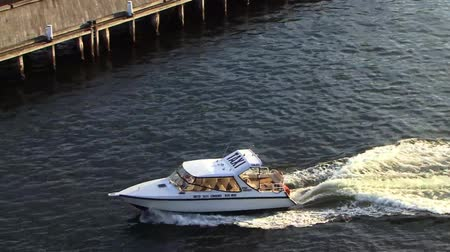 Speed Boat in Sydney Harbour Stock Footage