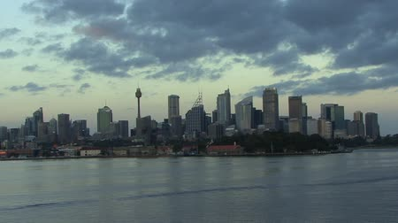 sydney : Sydney Harbour at sunrise Stock Footage