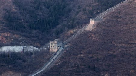 династия : Great wall of China Стоковые видеозаписи