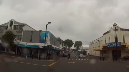 Time-lapse of a street in New Zealand Stok Video