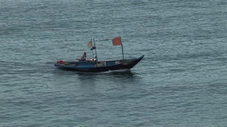 Vietnamese Fishing Boat Stock Footage