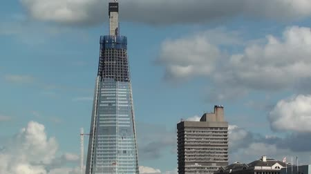 Shard Skyscraper wordt Londen gebouwd Stockvideo