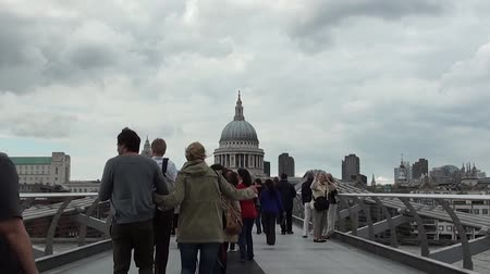Catedral de Londres San Pablo Archivo de Video