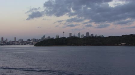 kirribilli : Sydney Harbour at sunrise Stock Footage