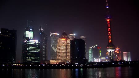 жемчуг : Shanghai Skyline at Night