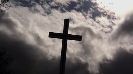 evangelical : Christian Cross with dramatic sky