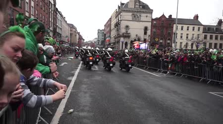 procession : St Patricks Day Bikers