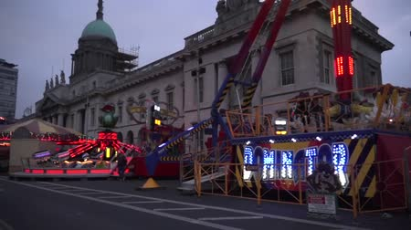 irlandês : St Patricks Day Custom House Amusements Stock Footage