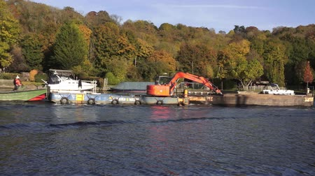 dredging : Construction Barges and boats