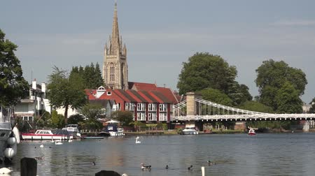 steeples : Marlow on the Thames Stock Footage