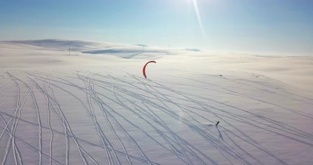 arctic tundra : Snowkiting in the North