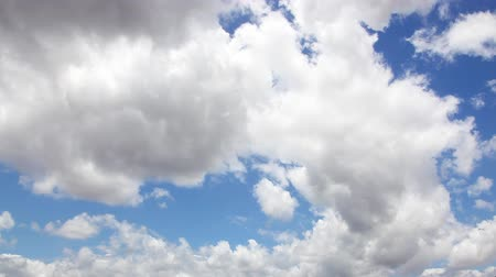time lapse clouds : Summer Clouds fly across a blue sky. HD 1080p timelapse.