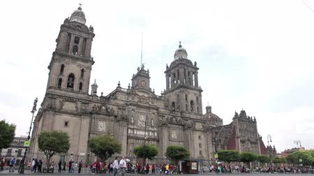 catedral : Mexico City, Mexico-CIRCA June,2014: Full shot Metropolitan Cathedral. The building is one of most representative by catholics in Mexico. Most of mexicans are catholics. Also is an attractive tourist.