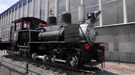mozdony : Mexico City, Mexico-August 2014: FULL SHOT. Old locomotive, outside Buenavista rail station. Nowdays the transport modernization is one of the most important challenge for the mexican government.
