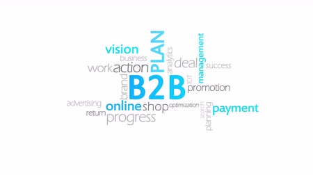 leverancier : B2B, Business to Business Stockvideo