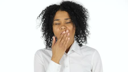 hüsran : Tired Black Woman Yawning