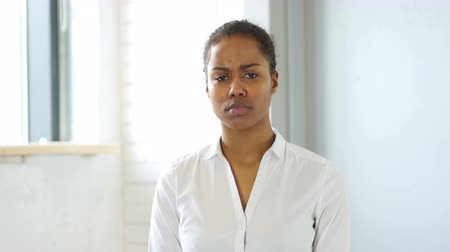 problem : Sad Black Woman Stock Footage