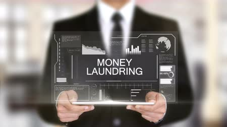 handboeien : Money Laundring, Hologram Futuristic Interface, Augmented Virtual Reality