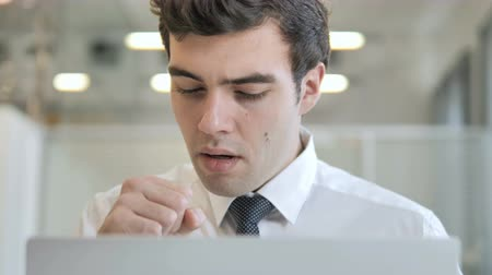 vitamina : Cough Young Businessman Coughing at Work