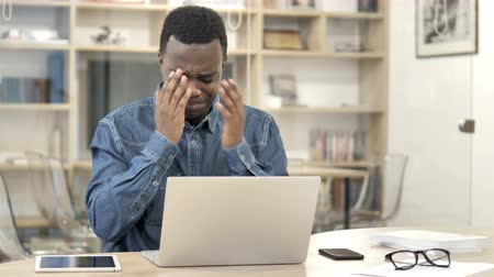 ashamed : Loss, Tense African Man Upset by Failure Stock Footage