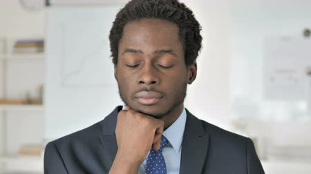 donuk : Portrait of Sleeping African Businessman