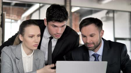 use laptop : Business People Busy Stock Footage