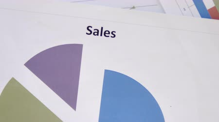 assess : Top View of Sales Chart on Desk