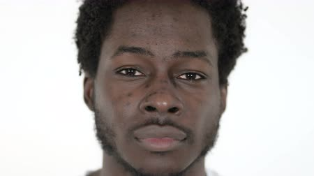afro amerikan : African Man on White Background