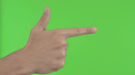 merging : Pointing with Finger, Green Chroma Key
