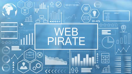 pirata : Pirata web, tipografía animada Archivo de Video