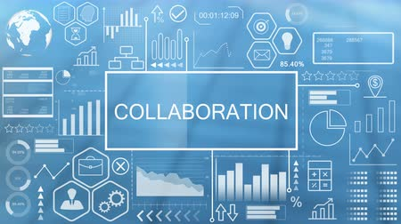 collaboration : Collaboration, Animated Typography Stock Footage