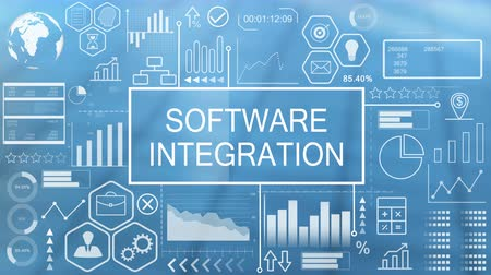 integrált : Software Integration, Animated Typography Stock mozgókép