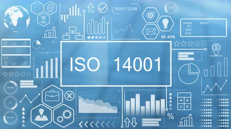 iso : ISO 14001, Animated Typography Stock Footage