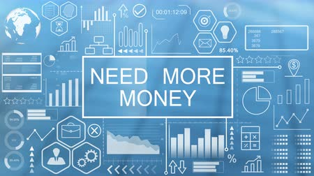 mais : Need More Money, Animated Typography Stock Footage