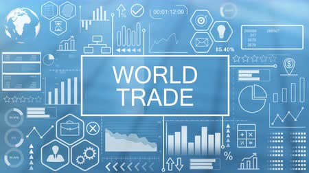 trade show : World Trade, Animated Typography Stock Footage