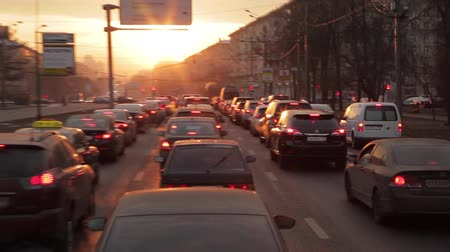 confiture : video traffic jam à Moscou