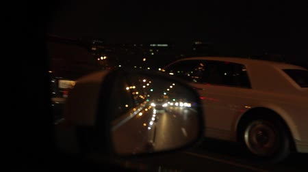 video go by car the city at night