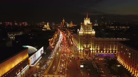poeta : Triumfalnaya square at night
